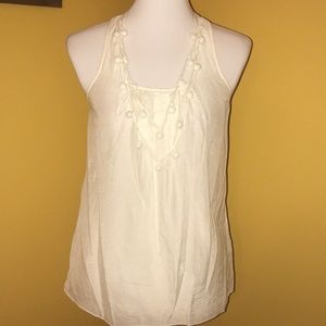 2/$15 GAP ivory racerback sleeveless blouse
